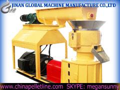 Pellet machine with feeeder