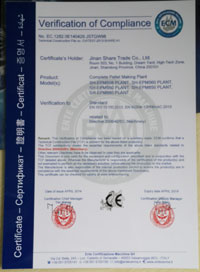 CE Certificate Pellet Line